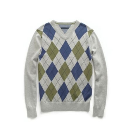 Image for ARGYLE V NECK SWEATER from Tommy Hilfiger USA