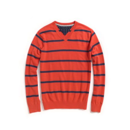 Image for STRIPE V NECK SWEATER from Tommy Hilfiger USA