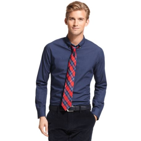 Image for CUSTOM FIT MICRO PRINT SHIRT from Tommy Hilfiger USA