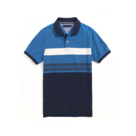 Image for SLIM FIT ENGINEER STRIPE POLO from Tommy Hilfiger USA