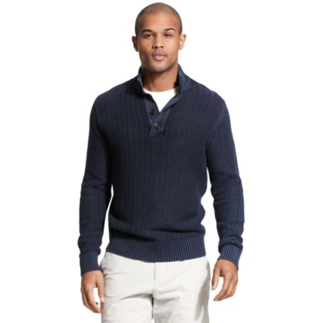 Image for GARMENT DYE BTT MOCK SWEATER from Tommy Hilfiger USA