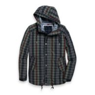 PLAID PARKA JACKET $169.00