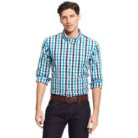 CUSTOM FIT PLAID SHIRT $49.99