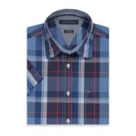 REGULAR FIT SHORT SLEEVE PLAID SHIRT $49.50
