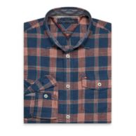 CUSTOM FIT CHAMBRAY PLAID SHIRT $54.50