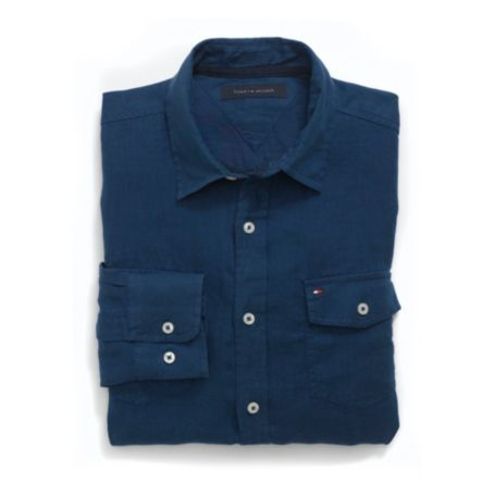 Image for CUSTOM FIT LINEN CAMP SHIRT from Tommy Hilfiger USA