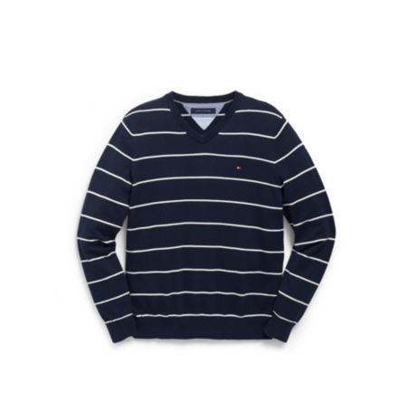 Image for STRIPE VNECK SWEATER from Tommy Hilfiger USA