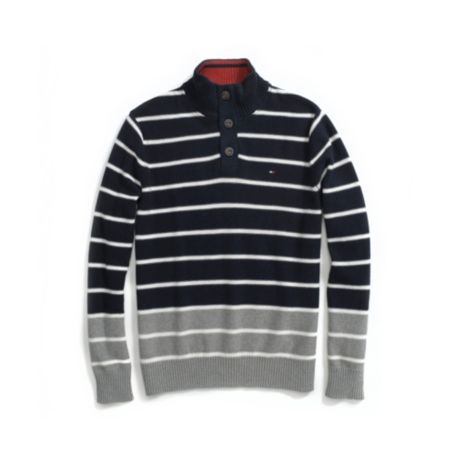 Image for MOCK NECK STRIPE SWEATER from Tommy Hilfiger USA