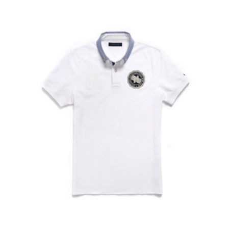 Image for CUSTOM FIT WOVEN COLLAR BADGE POLO from Tommy Hilfiger USA
