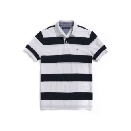 Image for CUSTOM FIT PIQUE STRIPE POLO from Tommy Hilfiger USA