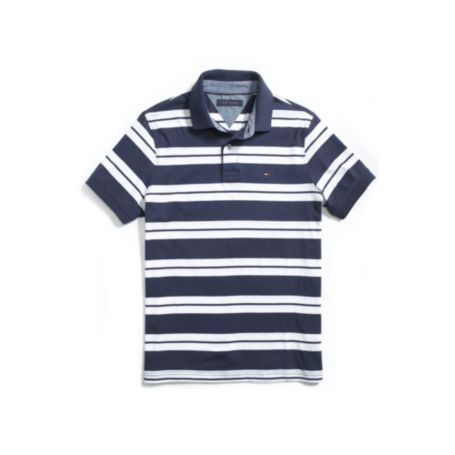 Image for CUSTOM FIT STRIPE POLO from Tommy Hilfiger USA