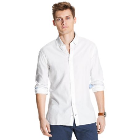 Image for COTTON LINEN OXFORD SHIRT from Tommy Hilfiger USA