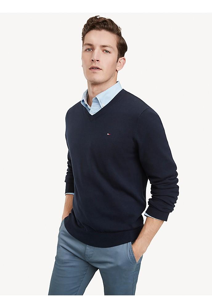 tommy hilfiger classic v neck sweater ebay. Black Bedroom Furniture Sets. Home Design Ideas