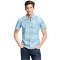 SHORT SLEEVE GINGHAM SHIRT $34.99