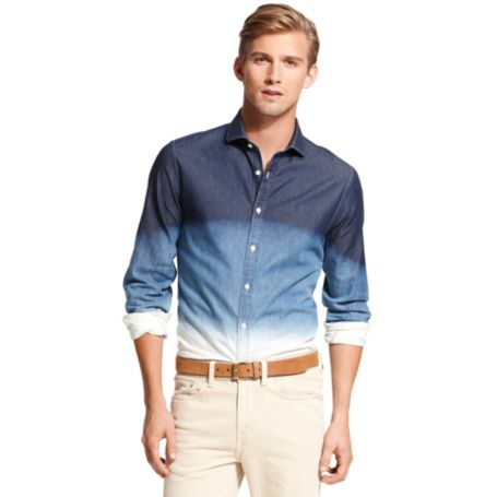 Image for NEW YORK FIT DIP DYE DENIM SHIRT from Tommy Hilfiger USA