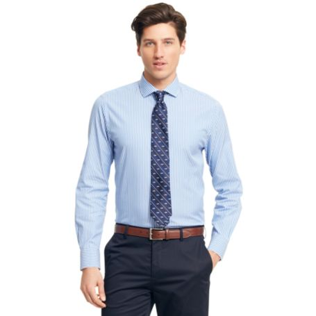 Image for NEW YORK FIT BANKER STRIPE SHIRT from Tommy Hilfiger USA