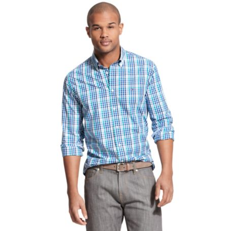 Image for NEW YORK FIT BRIGHT CHECK SHIRT from Tommy Hilfiger USA