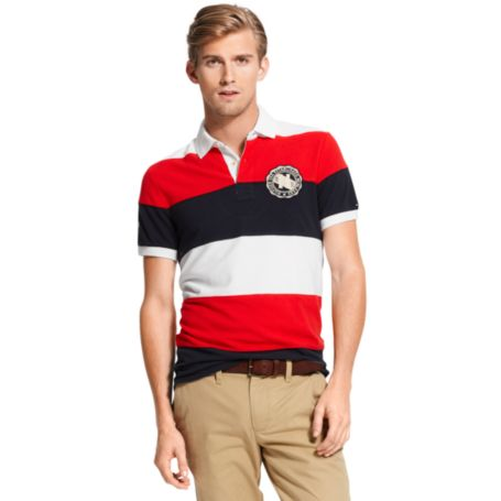 Image for PATCH BLOCK STRIPE POLO from Tommy Hilfiger USA