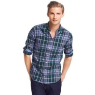 CUSTOM FIT HEATHERED CHECK SHIRT $89.00