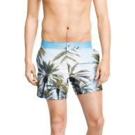 PALM TREE PRINTED SWIM SHORT