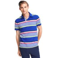 CUSTOM FIT SPRING STRIPE JERSEY POLO $65.00