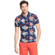 SLIM FIT FLOWER PRINT POLO $69.99