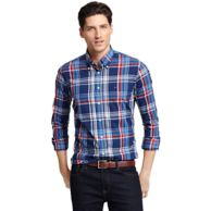 CUSTOM FIT PLAID SHIRT $89.00