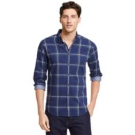 NEW YORK FIT WINDOWPANE CHECK SHIRT $89.00
