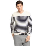 STRIPE V-NECK SWEATER $79.00