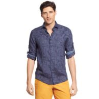 ROLL-SLEEVE LINEN SHIRT $79.00
