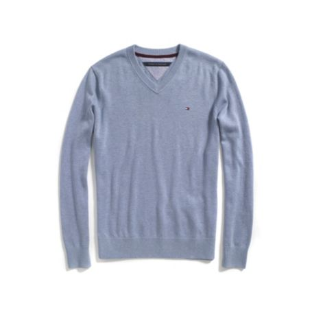 Tommy Hilfiger Classic V-Neck Sweater - Cloud Heather (Core) - S