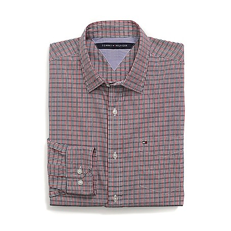Tommy Hilfiger Custom Fit 80'S Plaid Shirt - Chili Pepper Outlet Exclusive Product100% CottonCustom Fit 80'S Two Ply Shirt: Our Best Shirt Tailored In Soft, Superior 80'S Two Ply Yarns In Custom Fit.Microflag On ChestMachine WashableImported