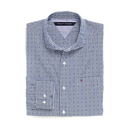 Tommy Hilfiger Custom Fit 80'S Plaid Shirt - Victoria Blue Outlet Exclusive Product100% CottonCustom Fit 80'S Two Ply Shirt: Our Best Shirt Tailored In Soft, Superior 80'S Two Ply Yarns In Custom Fit.Microflag On ChestMachine WashableImported