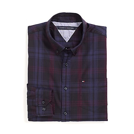 Tommy Hilfiger Custom Fit 80'S Plaid Shirt - As Is Black Outlet Exclusive Product100% CottonCustom Fit 80'S Two Ply Shirt: Our Best Shirt Tailored In Soft, Superior 80'S Two Ply Yarns In Custom Fit.Microflag On ChestMachine WashableImported