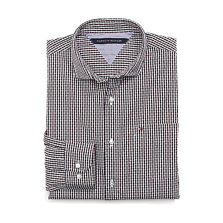 Tommy Hilfiger Custom Fit 80'S Plaid Shirt - Zinfindel Outlet Exclusive Product100% CottonCustom Fit 80'S Two Ply Shirt: Our Best Shirt Tailored In Soft, Superior 80'S Two Ply Yarns In Custom Fit.Microflag On ChestMachine WashableImported