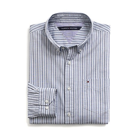Tommy Hilfiger Custom Fit 80'S Stripe Shirt - Ensign Blue/Coronet Blue Outlet Exclusive Product100% CottonCustom Fit 80'S Two Ply Shirt: Our Best Shirt Tailored In Soft, Superior 80'S Two Ply Yarns In Custom Fit.Microflag On ChestMachine WashableImported