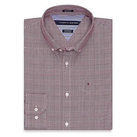Tommy Hilfiger Custom Fit 80'S Plaid Shirt - Meteorite Outlet Exclusive Product100% CottonCustom Fit 80'S Two Ply Shirt: Our Best Shirt Tailored In Soft, Superior 80'S Two Ply Yarns In Custom Fit.Microflag On ChestMachine WashableImported