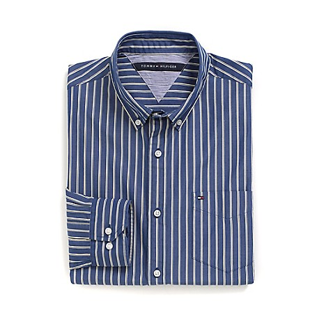 Tommy Hilfiger Custom Fit 80'S Stripe Shirt - Limoges Outlet Exclusive Product100% CottonCustom Fit 80'S Two Ply Shirt: Our Best Shirt Tailored In Soft, Superior 80'S Two Ply Yarns In Custom Fit.Microflag On ChestMachine WashableImported