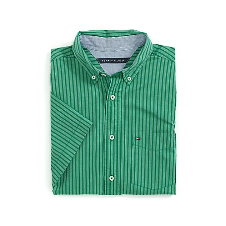 Tommy Hilfiger Soft Stripe Regular Fit Shirt - Amazon Outlet Exclusive ProductMicro Flag On ChestMachine WashableImported