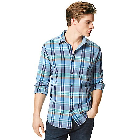 Tommy Hilfiger Classic Fit Plaid Shirt - French Blue Tommy Hilfiger Men's Shirt. Our Plaid Shirt Is Woven From Soft-Washed Cotton In The Comfortable Fit You've Loved For Years.• Classic Fit (Our Most Relaxed Fit).• 100% Cotton. • Button-Down Collar.• Machine Washable.• Imported.