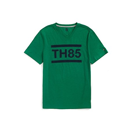 Tommy Hilfiger Th85 V-Neck Graphic Tee - Amazon Outlet Exclusive ProductMachine WashableImported