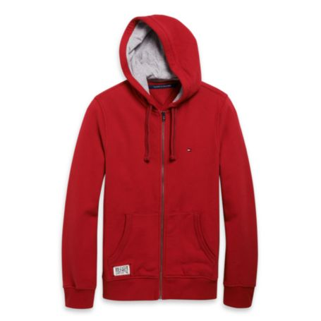Tommy Hilfiger Full-Zip Hoodie - Ruby Red - Xxl