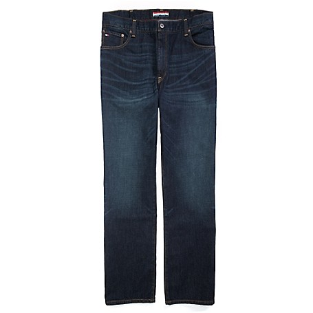 Tommy Hilfiger Big & Tall Classic Jeans - Dark Wash Tommy Hilfiger Men's Jean. Our Classic Jean That Works With Everything Sits Just Below The Waist, Cut Straight From Hip To Hem.   • Big &Amp; Tall Sizing (See Chart).•100% Cotton.• 5-Pocket Styling• Machine Washable.• Imported.