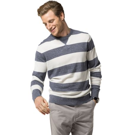 Tommy Hilfiger Block Stripe Sweater - Dark Indigo / Snow White  Eur