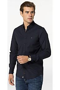 타미 힐피거 Tommy Hilfiger Cotton Poplin Stretch Slim Fit Shirt