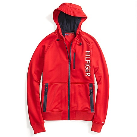 Tommy Hilfiger Sports Hoodie - Racing Red - S Outlet Exclusive Style.Machine Washable.Imported.