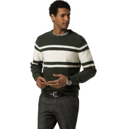 Tommy Hilfiger Sport Stripe Sweater - Rosin Htr / Snow White - Eur - Xs