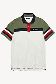타미 힐피거 Tommy Hilfiger Custom Fit Pique Cotton Polo,DEEP LICHEN GREEN/SNOW WHITE