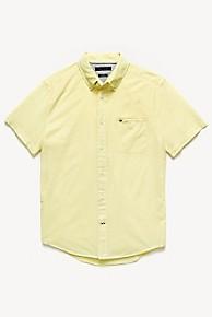 타미 힐피거 Tommy Hilfiger Short-Sleeve Pocket Shirt,LEMON ZEST
