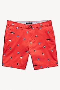 타미 힐피거 Tommy Hilfiger Embroidered Surfer Short,RED